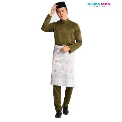 Baju Melayu AuraMen Luxe - Army Green