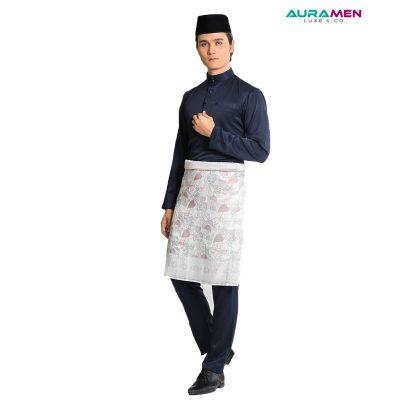 Baju Melayu AuraMen Luxe - Dark Blue