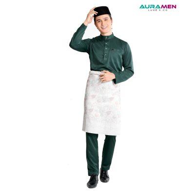 Baju Melayu AuraMen Luxe - Emerald Green