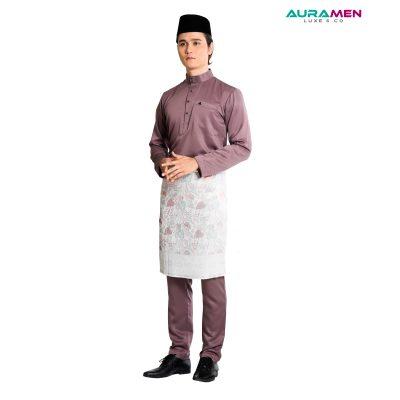 Baju Melayu AuraMen Luxe - Lilac