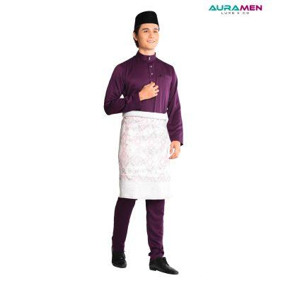 Baju Melayu AuraMen Luxe - Purple