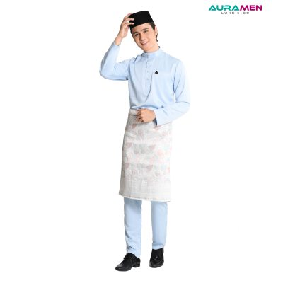 Baju Melayu AuraMen Luxe - Sky Blue