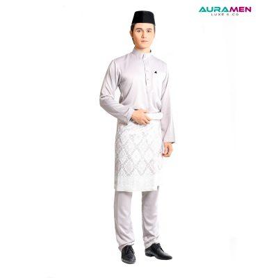 Baju Melayu AuraMen Luxe - Grey