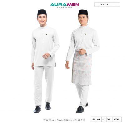 Baju Melayu AuraMen Luxe - Off White